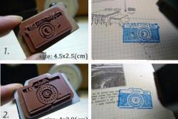 Fotostempeltjes, 2 versies