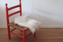 Gaaf rood stoeltje