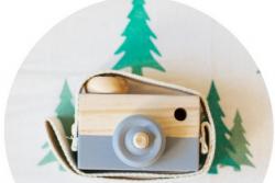 Houten camera's in 4 kleuren