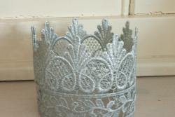 Hoog zilveren kroontje
