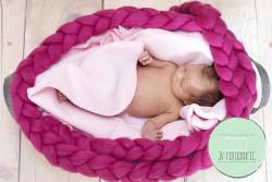 Newborn posing braid Hot pink