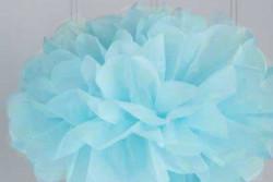 Set pompons 1x30 en 1x40 cm blauw