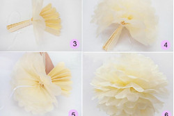 Pompon beige/vanille, 4 maten