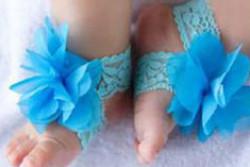 Voetbloemen blauw